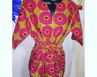 Ankara T-shirt Dress
