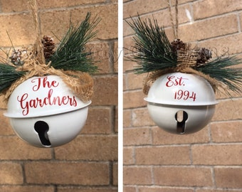 Personalized Christmas Ornament, Jingle Bell Ornament, Family Name Ornament, Personalized Ornament, custom ornament, name ornament,