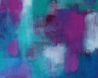 Plum Aqua Jewels 1 // Artist Charlie Albright // Blog Moments by Charlie | Modern Abstract Art Print, Wall Art
