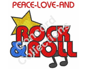 Rock and Roll Machine Embroidery Design