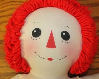 Raggedy Ann Doll Vintage Toy