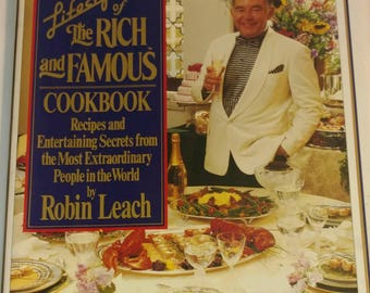Vintage 1992 Coffee Table Cookbook Robin Leach Lifestyles Rich Famous