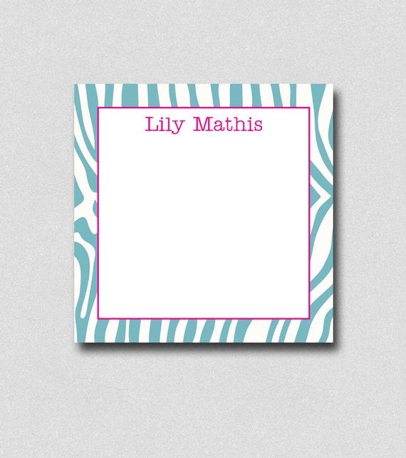 Custom Notepads Memo Pads: Personalized Note Pad Square Memo Pad Custom Notepads Zebra
