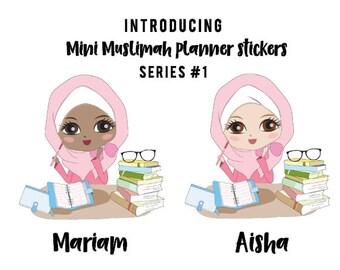 Mini Muslimah Planner Sticker (Aisha)