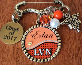 PERSONALIZED LVN Pin, Lvn Pinning Ceremony, LVN Accessories, Lvn Gifts,Nurse Graduate, Licensed Vocational Nurse Gifts,Lvn Graduate,Lvn Pin
