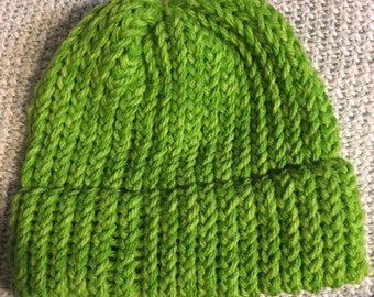 NEW ITEM! Handmade Green Winter Hat