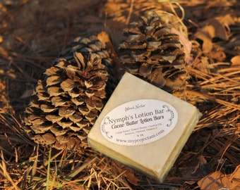 Cacao Lotion Bar - Nymph's Lotion - Body Butter, Solid Lotion Bar, Hand Lotion Bar, Cocoa & Beeswax Lotion Bar, Body Lotion Bar, 4 oz, 6 oz