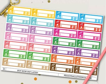Afterpay Planner Stickers | Bill Due Stickers | Tracking Stickers | Money Stickers | Finance Stickers