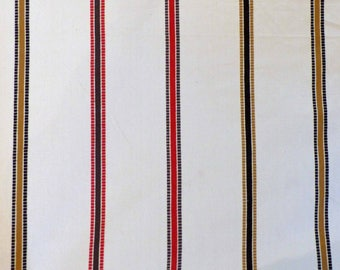 Light Weight Furnishing Fabric - Cream Stripe - 1m length x 137cm wide