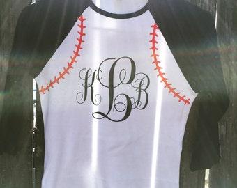 Raglan Baseball Tshirt Monogram