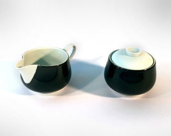 Milk and sugar set, Rosenthal, Raymond Loewy, Secunda grey model