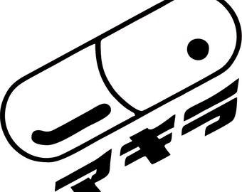 Akira Anime Pill Decal - 48 Colors - Free USA shipping - Free customization