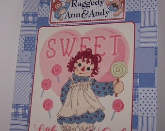 Raggedy Ann and Andy Sweet Little Girl Counted Cross Stitch Pattern Chart Designs By Gloria & Pat RA-107 December I - 2001