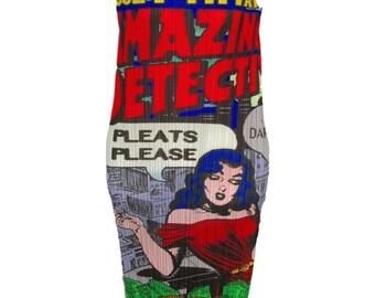 Issey Miyake Pleats Please Pop Art Amazing Detective Shift Dress