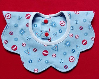 Light Blue cotton baby bib eight cute pattern baby accessories