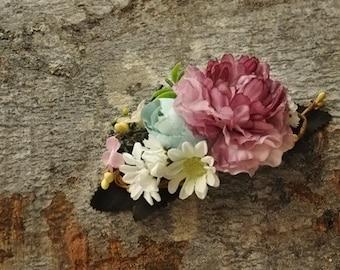 Flower Hair comb , hair flowers wedding comb , bridal hair fashion accessories ,rose fairy hair flowe, wedding Accessory