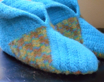 Felted in-house slippers, non-slippery, size 41-42
