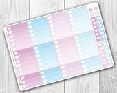 Unicorn Princess Ombre Heart Boxes, Planner Stickers, Erin Condren Vertical, ECLP