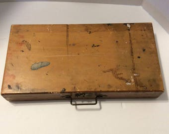 Wood painter's box, painter's box, artist's box, wood box, antique box, vintage box