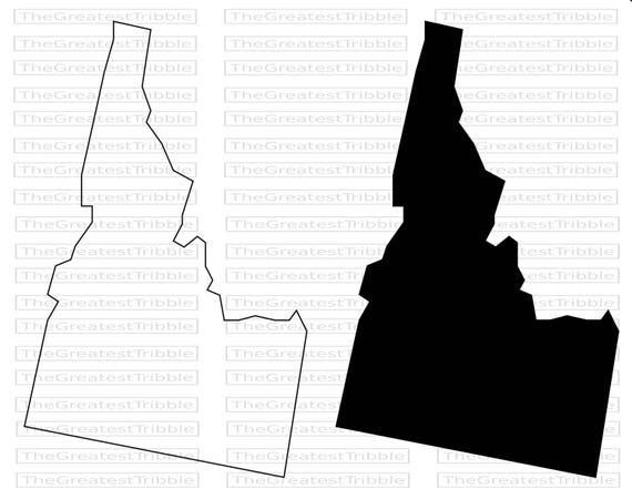 Idaho State Map Svg Png Jpg Vector Graphic Clip Art Idaho