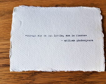 William Shakespeare inspirational quote hand typed on antique typewriter gift girlfriend boyfriend husband wife wedding present birthday