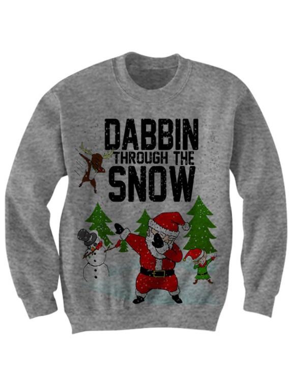 Dabbin Through The Snow Christmas Sweater Dab Sweater Dabbing