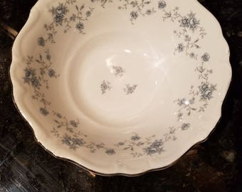 Johann Haviland  blue garland serving bowl