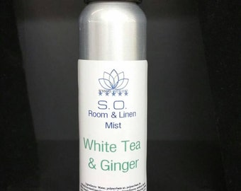 White Tea & Ginger Room and Linen Mist / Body Spray, Car Freshener, Gift 4 oz