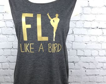 Yoga Tank Top, Yoga Clothes, Women's Tank Top, Workout Tank Top, Inspirational Tank Top, Yoga, Bird of Paradise Yoga Pose, Yoga Clothing
