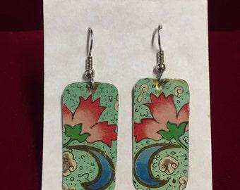 Vintage Tin Earrings  ---  #20,036