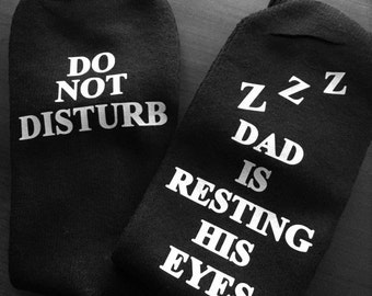 Personalized Socks, Napping Daddy, Funny Socks, Socks for Dad, Christmas gift, stocking stuffer, Dad Gift, Sleepy Daddy, Dad socks