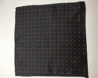 Pocket Square black/red