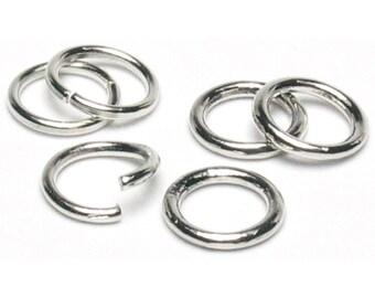 Jump Rings 8mm - Silver Jump Rings - Bright Silver Jump Rings - Jewelry Jump Rings - 8 mm Jump Rings - Jewelry Basics Jump Rings 8mm