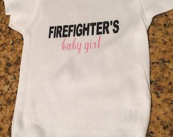 Firefighter's Baby Girl bodysuit