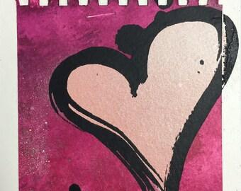 Valentine Original Artwork on Panel