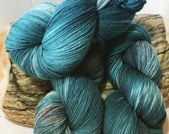 Hand-dyed Merino silk mix 100 g