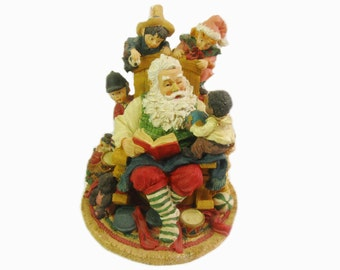 Santa Claus with Children, Christmas Figurine