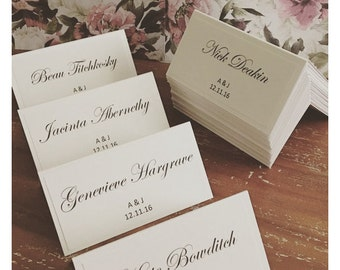 50  x Classic White Place Cards
