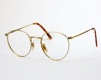 Luxottica Round Eyeglass Frames : Round eyeglasses Etsy