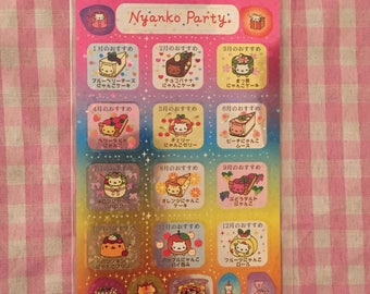 San-X Nyan Nyanko sticker sheet RARE