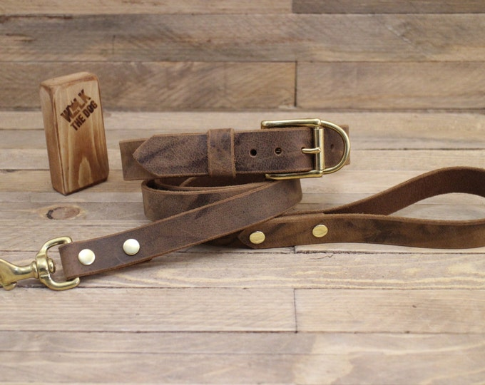 Dog leash, Handmade leash, Dog leash, Pet gift, ''Crazy horse'' leather leash, Leash, Strong leash, Leather lead, Lead.