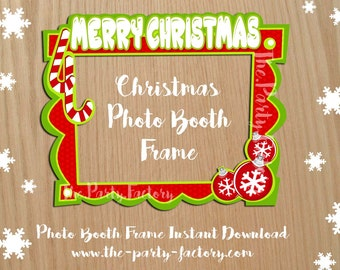 Christmas Photo Booth Frame Instant Download, Digital File
