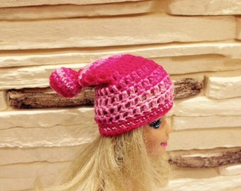 Slouchy hat for Barbie doll, crochet slouchy beanie, Barbie outfit,Fashion doll hat, fashion doll outfit, Barbie accessories