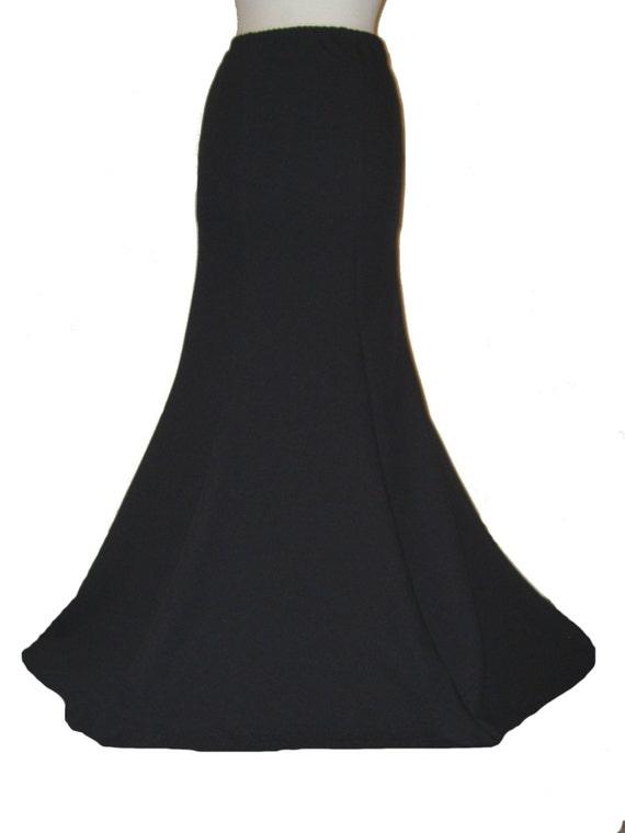 Black gothic skirt fishtail skirt long black skirt