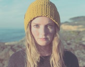 handmade, crochet hat, olive gold, fold over brim beanie, designer, wool, winter Beanie OLE, unisex, available in different colors
