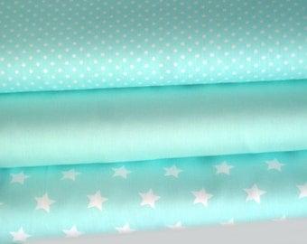 Fabric package mint 3 substances 50 x 142 cm