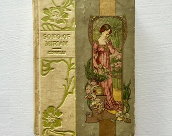 1898 Vintage Antique Hardback SONG of MIRIAM by Marie Corelli