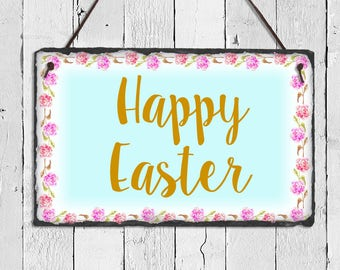Easter Sign, Easter Plaque, Easter Decor, Happy Easter, Happy Easter Sign, Outdoor Decor, Outdoor Signs, Spring Decor, Easter Decorations