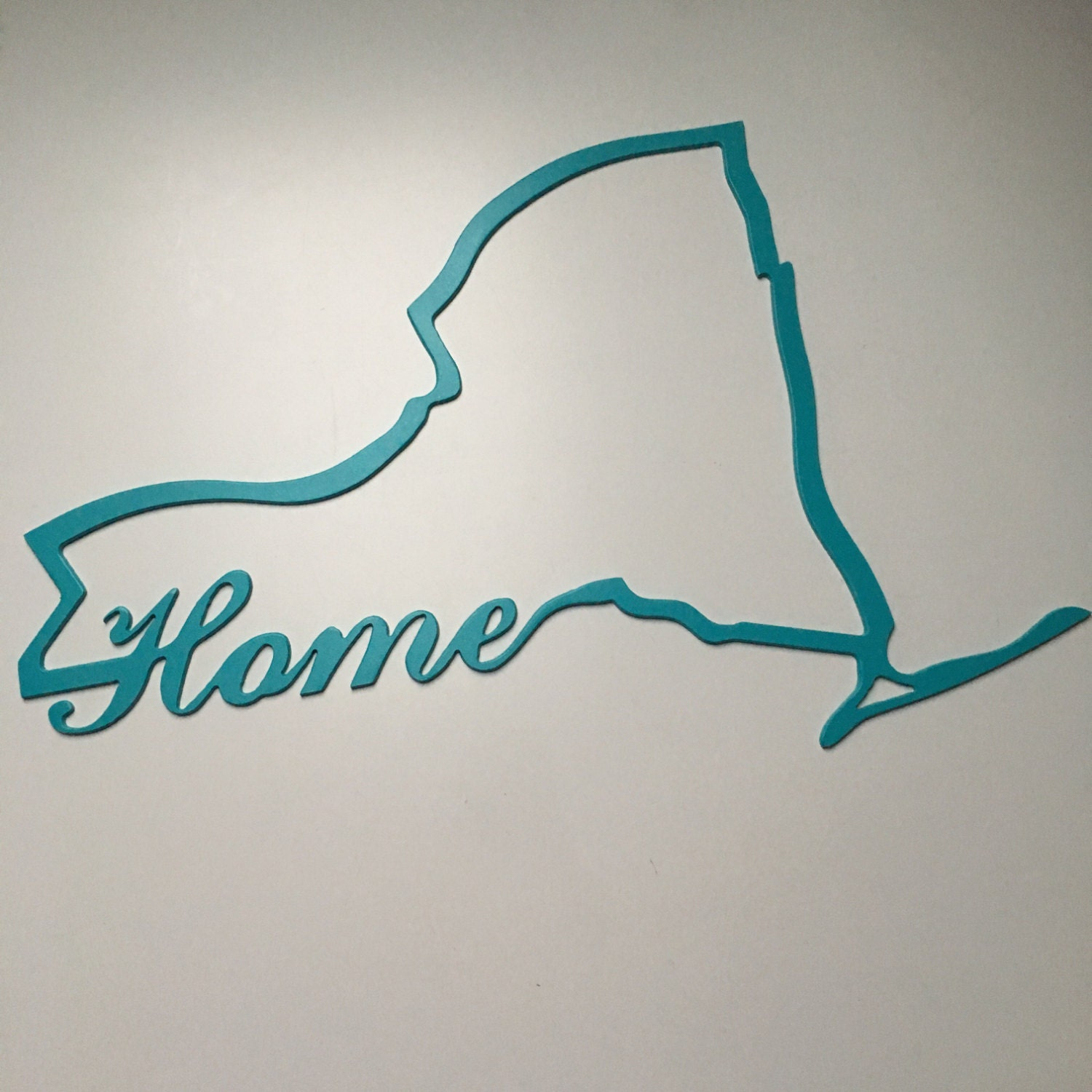 Ny Home State Sign Custom Made Metal Sign College Dorm