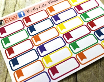 Planner Stickers - Appointment Stickers - Rainbow Reminder Stickers - Planner Stickers - Planner Decor - ECLP Stickers - Happy Planner -Flag